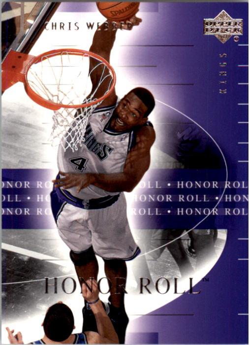 2001-02 Upper Deck Honor Roll #74 Chris Webber front image