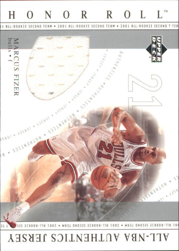 2001-02 Upper Deck Honor Roll All-NBA Authentic Jerseys #15 Marcus Fizer