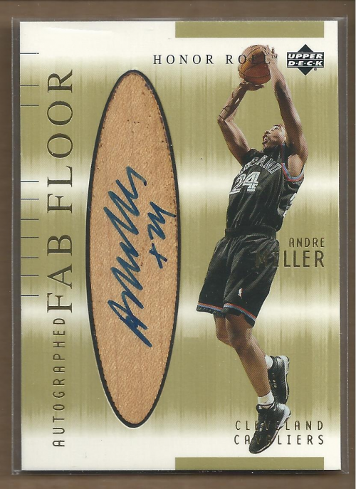 2001-02 Upper Deck Honor Roll Fab Floor Autographs #7 Andre Miller