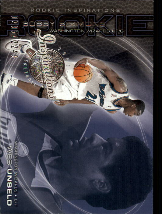 2001-02 Upper Deck Inspirations #103 Wes Unseld/Bobby Simmons RC