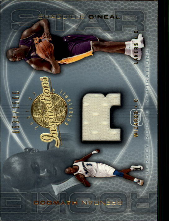 2001-02 Upper Deck Inspirations #123 Brendan Haywood JSY RC/Shaquille O'Neal