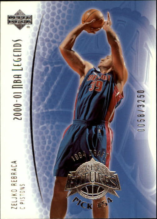 2001-02 Upper Deck Legends #95 Zeljko Rebraca RC