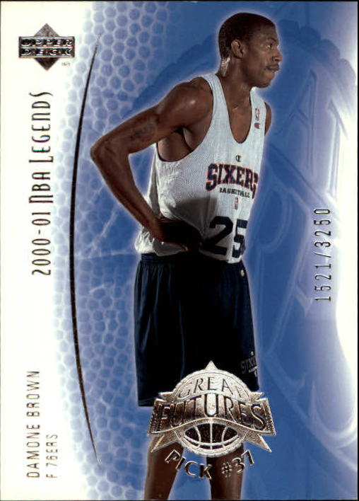 2001-02 Upper Deck Legends #96 Damone Brown RC