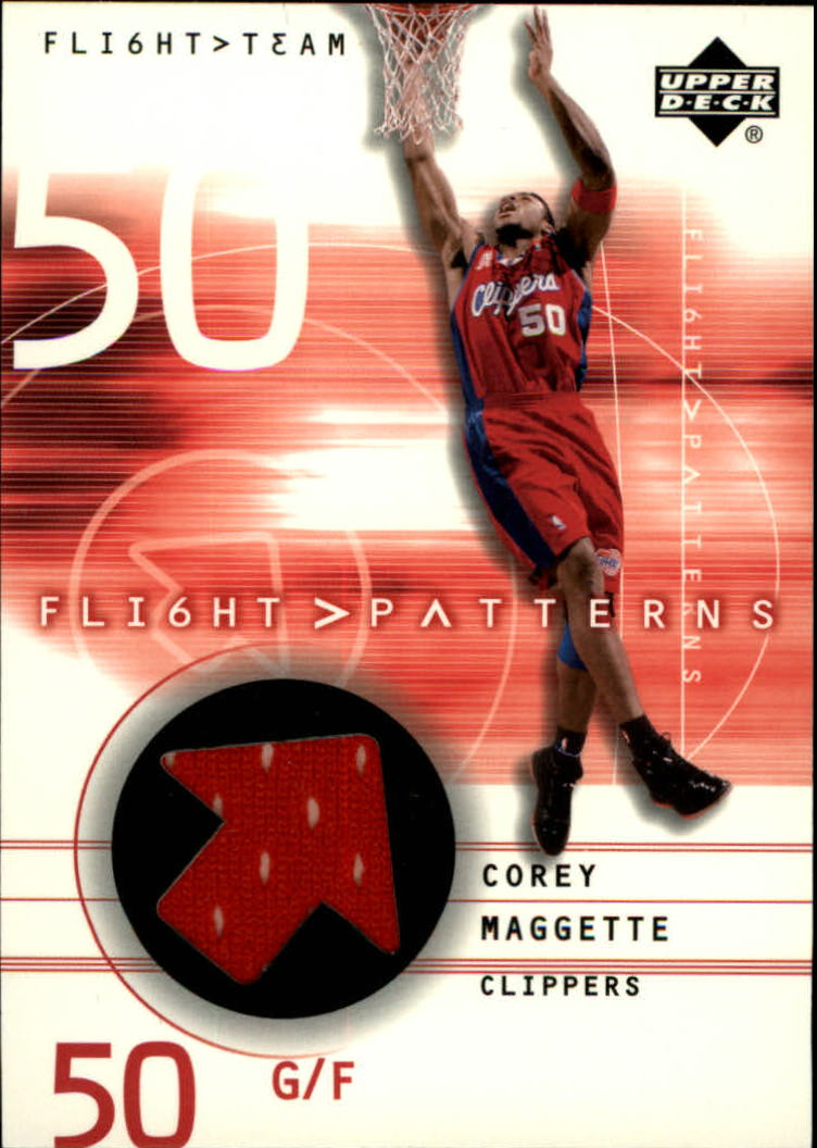 2001-02 Upper Deck Flight Team Flight Patterns #CM Corey Maggette