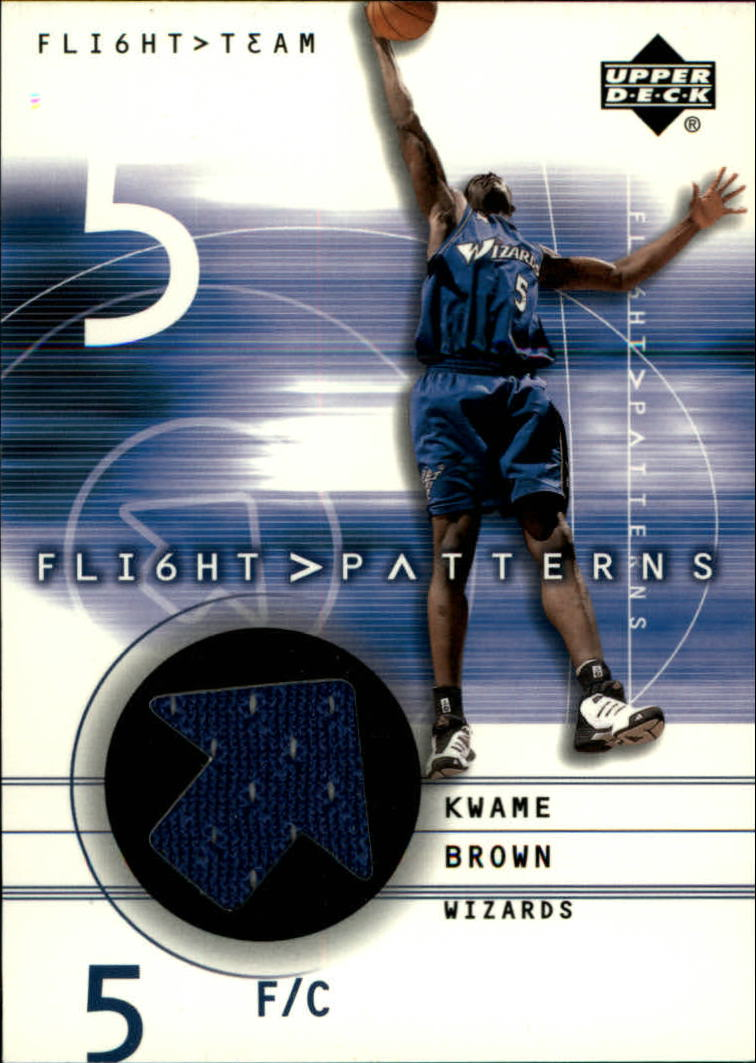 2001-02 Upper Deck Flight Team Flight Patterns #KW Kwame Brown