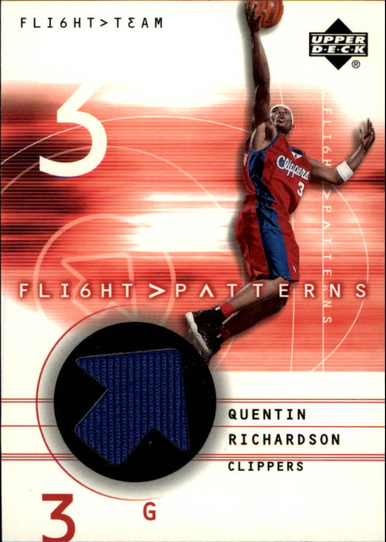 2001-02 Upper Deck Flight Team Flight Patterns #QR Quentin Richardson
