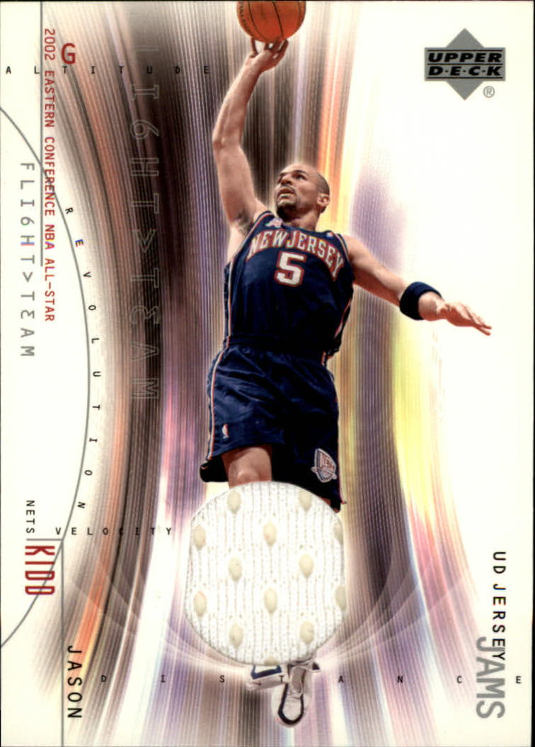 2001-02 Upper Deck Flight Team UD Jersey Jams #JKJ Jason Kidd