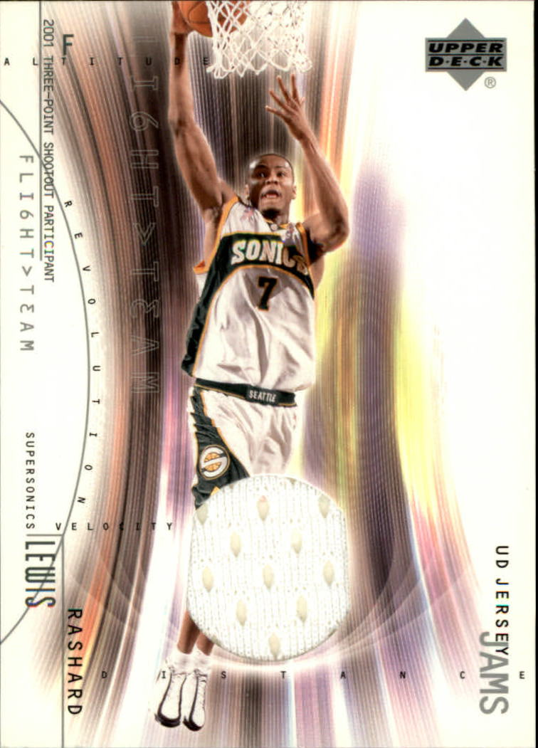 2001-02 Upper Deck Flight Team UD Jersey Jams #RLJ Rashard Lewis