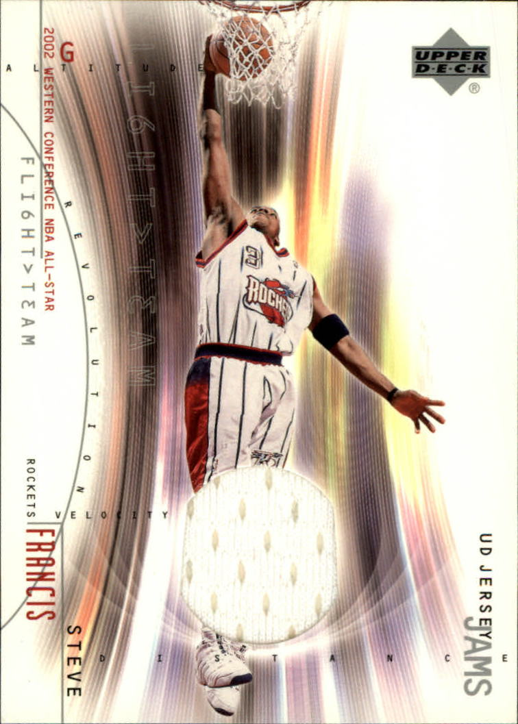 2001-02 Upper Deck Flight Team UD Jersey Jams #SFJ Steve Francis