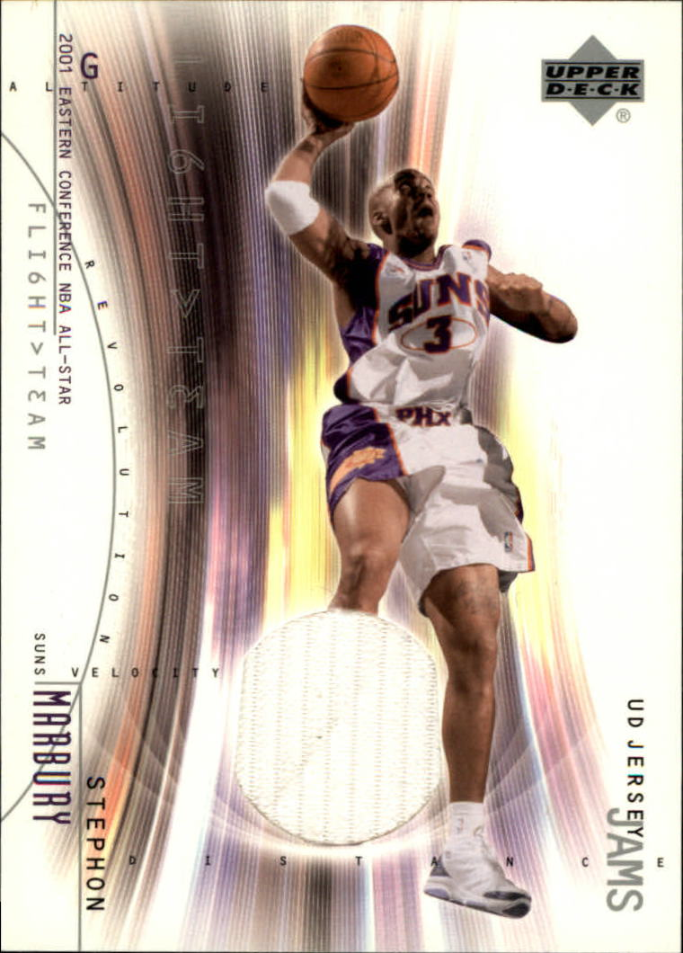 2001-02 Upper Deck Flight Team UD Jersey Jams #SMJ Stephon Marbury