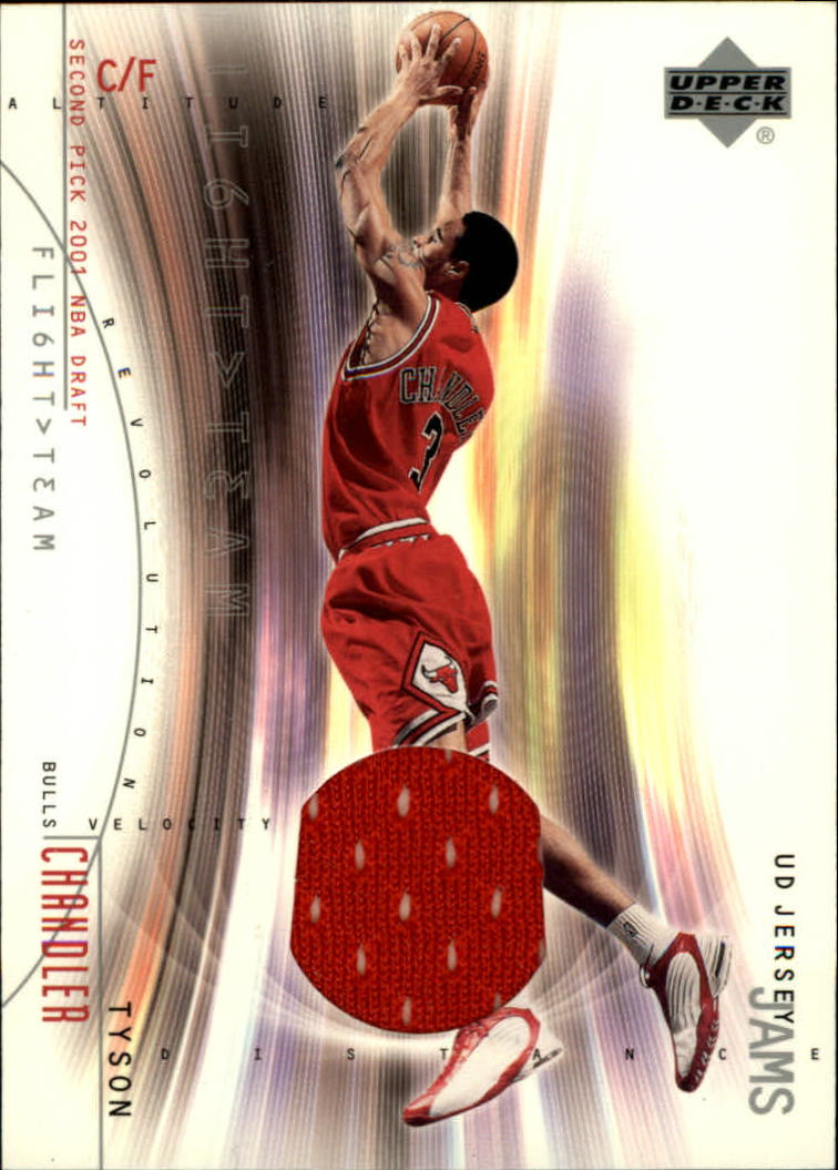 2001-02 Upper Deck Flight Team UD Jersey Jams #TCJ Tyson Chandler