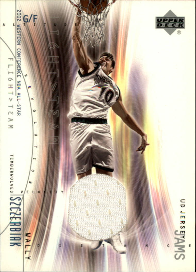 2001-02 Upper Deck Flight Team UD Jersey Jams #WSJ Wally Szczerbiak
