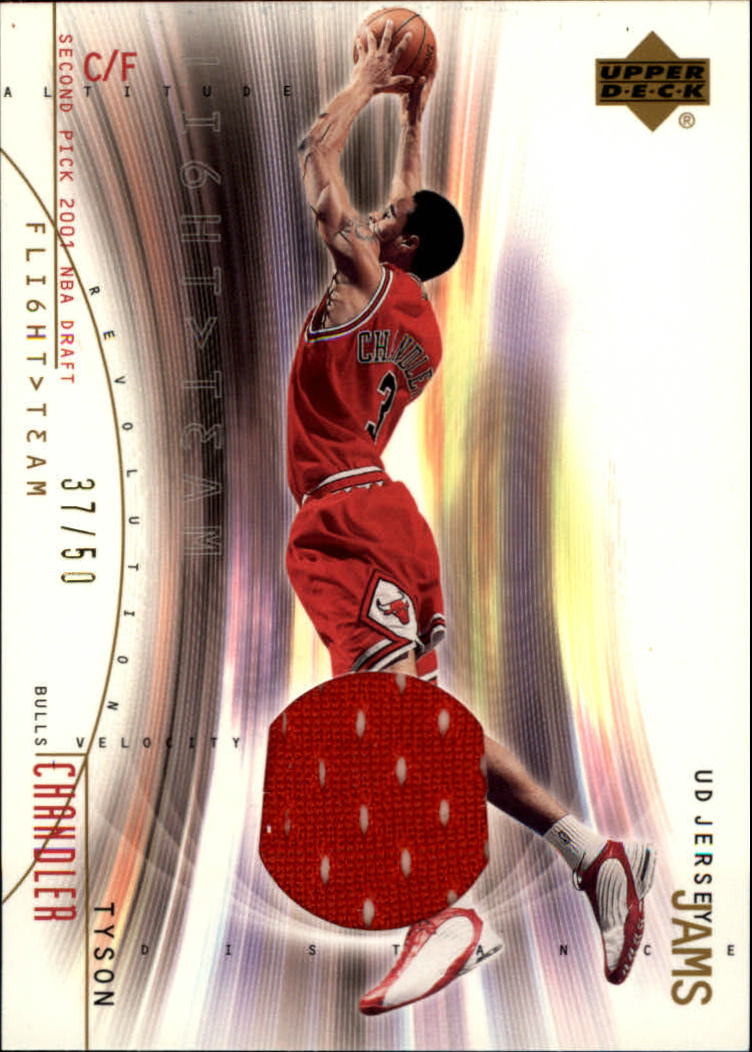 2001-02 Upper Deck Flight Team UD Jersey Jams Gold #TCJ Tyson Chandler