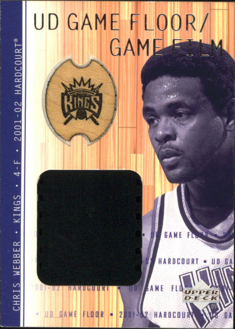 2001-02 Upper Deck Hardcourt UD Game Film/Floor #CWF Chris Webber