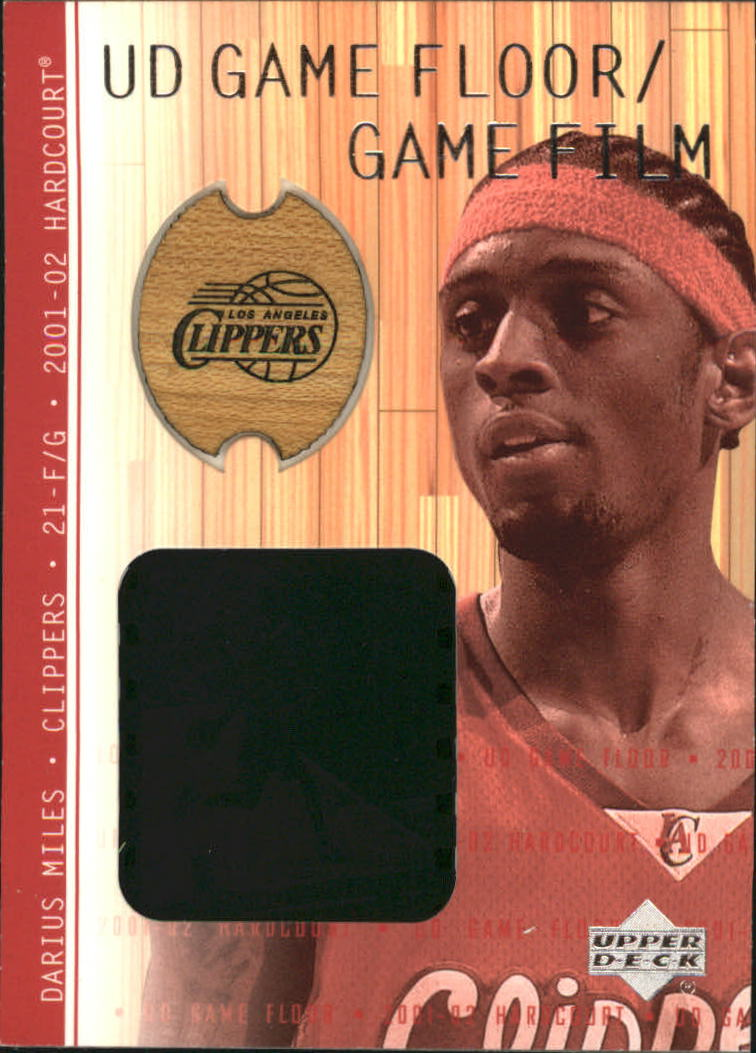 2001-02 Upper Deck Hardcourt UD Game Film/Floor #DAF Darius Miles