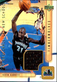 2001-02 Upper Deck UD Originals Jerseys #KGO Kevin Garnett