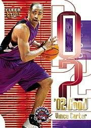2001-02 Ultra 02 Good Game Worn #1 Vince Carter