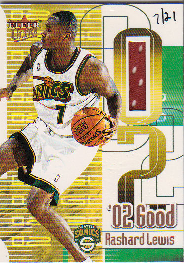 2001-02 Ultra 02 Good Game Worn #17 Rashard Lewis