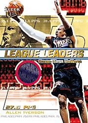 2001-02 Ultra League Leaders Game Worn #2 Allen Iverson
