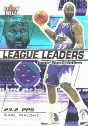 2001-02 Ultra League Leaders Game Worn #5 Karl Malone
