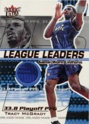 2001-02 Ultra League Leaders Game Worn #8 Tracy McGrady