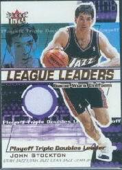 2001-02 Ultra League Leaders Game Worn #10 John Stockton