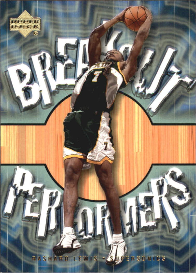 2001-02 Upper Deck Breakout Performers #BP5 Rashard Lewis