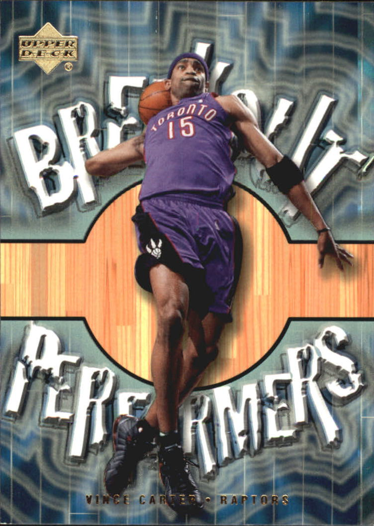 2001-02 Upper Deck Breakout Performers #BP6 Vince Carter