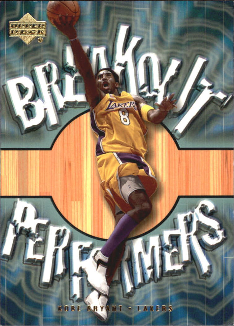 2001-02 Upper Deck Breakout Performers #BP8 Kobe Bryant