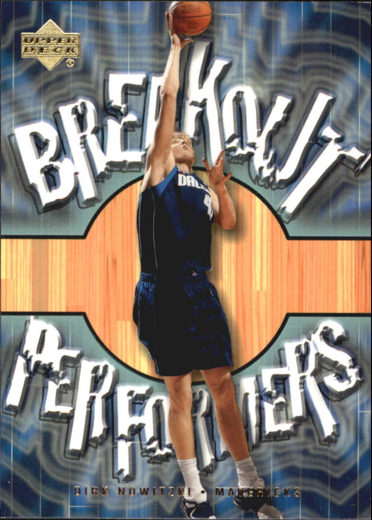 2001-02 Upper Deck Breakout Performers #BP13 Dirk Nowitzki