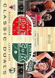 2001-02 Upper Deck Classic Duals Jerseys #MJ/LB Michael Jordan/Larry Bird