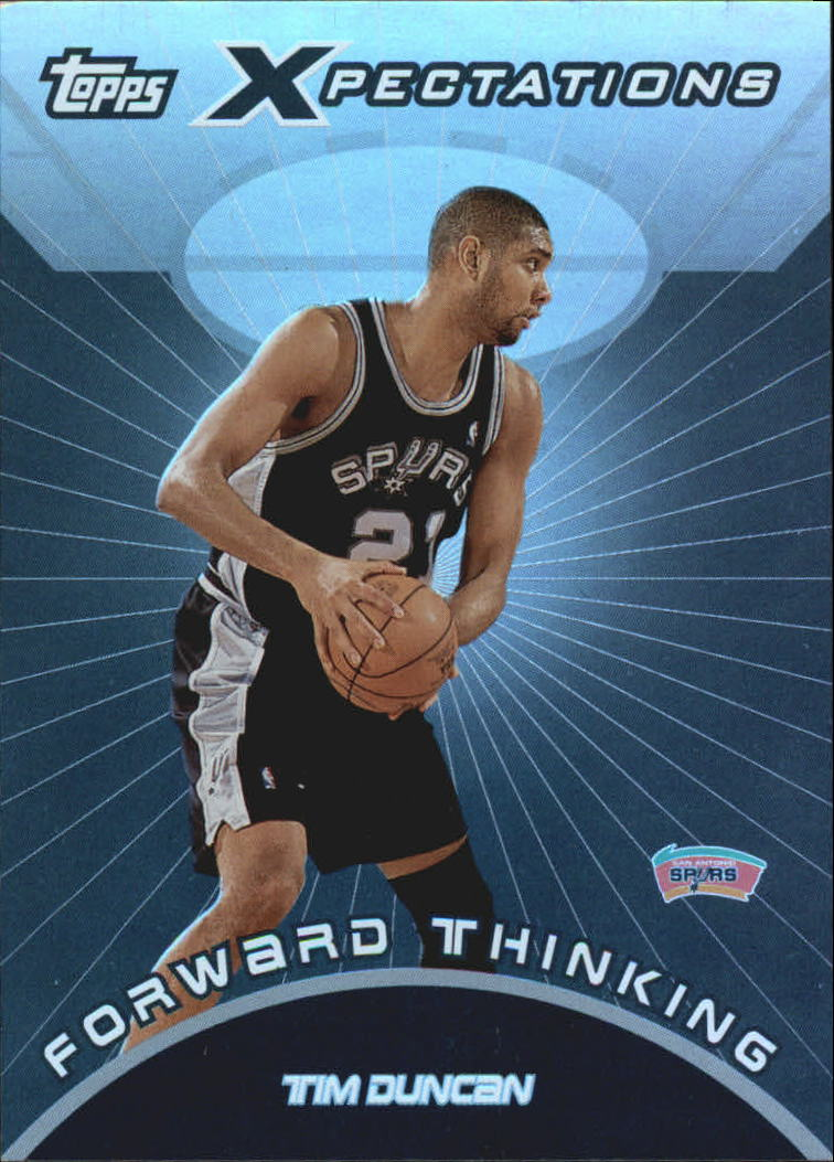 2001-02 Topps Xpectations Forward Thinking #FT4 Tim Duncan