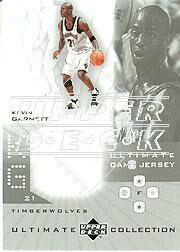 2001-02 Ultimate Collection Jerseys Silver #KG Kevin Garnett
