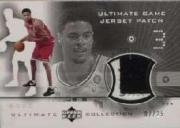2001-02 Ultimate Collection Jerseys Patches Silver #TCP Tyson Chandler