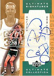 2001-02 Ultimate Collection Signatures Gold #LBA Larry Bird/33