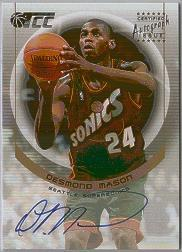 2001-02 Topps TCC Autographs #CCADM Desmond Mason