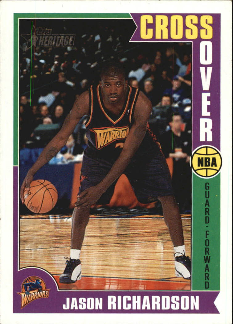 2001-02 Topps Heritage Crossover #11 Jason Richardson