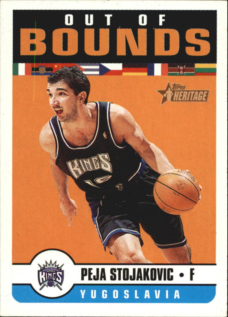 2001-02 Topps Heritage Out of Bounds #2 Peja Stojakovic