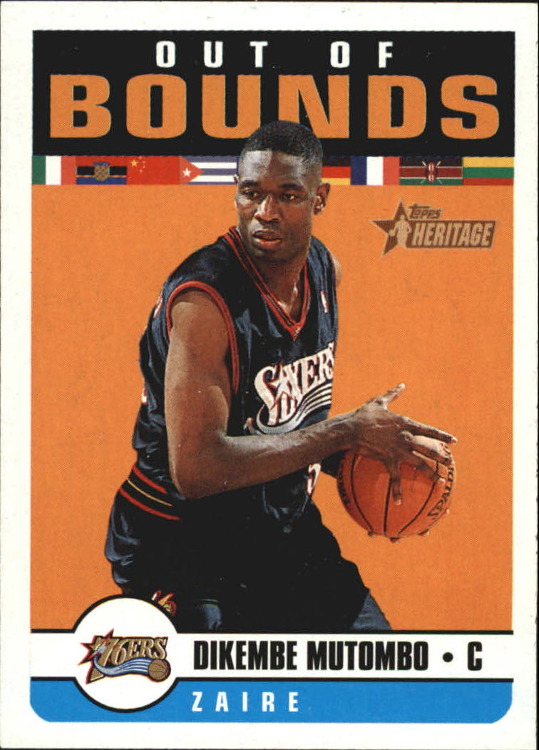 2001-02 Topps Heritage Out of Bounds #4 Dikembe Mutombo