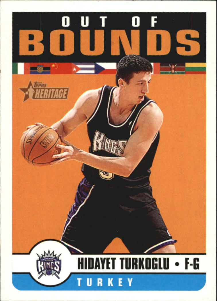 2001-02 Topps Heritage Out of Bounds #6 Hedo Turkoglu