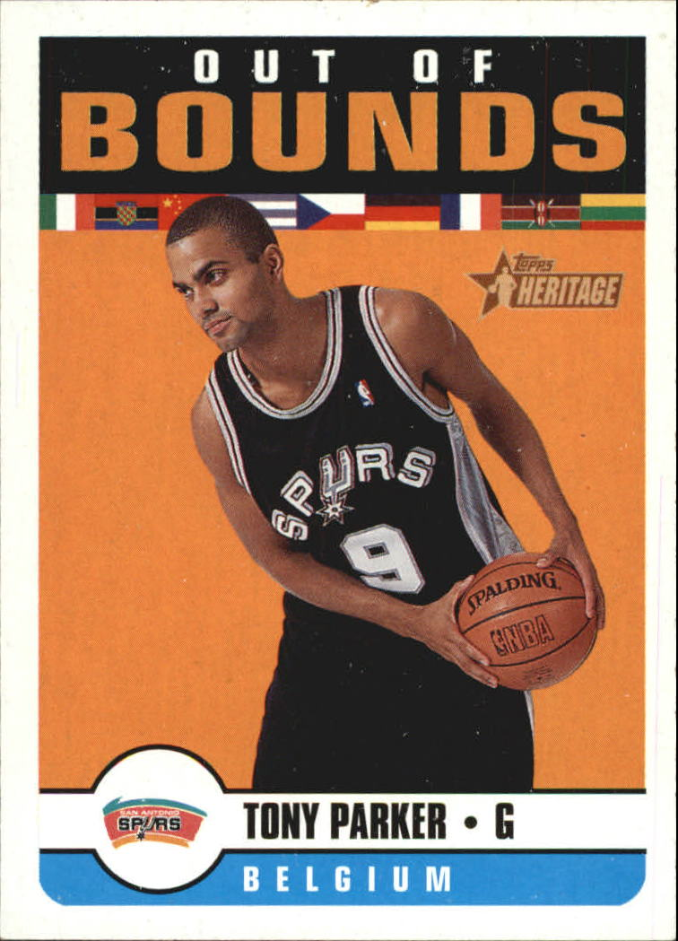2001-02 Topps Heritage Out of Bounds #8 Tony Parker