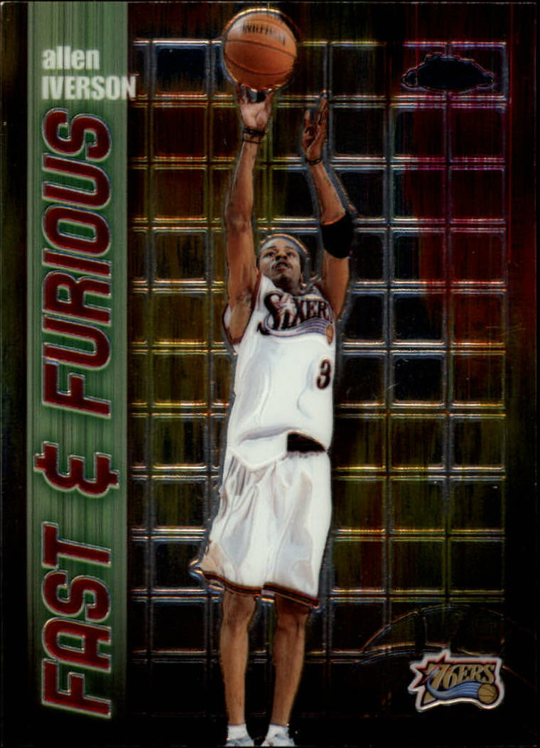 2001-02 Topps Chrome Fast and Furious #FF2 Allen Iverson