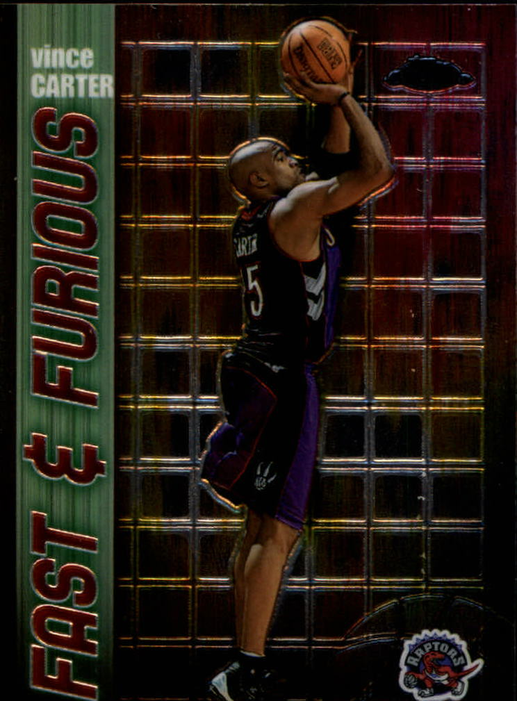 2001-02 Topps Chrome Fast and Furious #FF4 Vince Carter