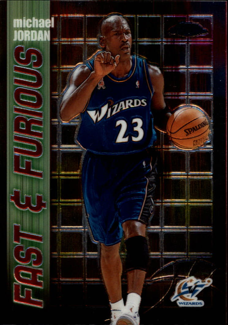 2001-02 Topps Chrome Fast and Furious #FF5 Michael Jordan front image