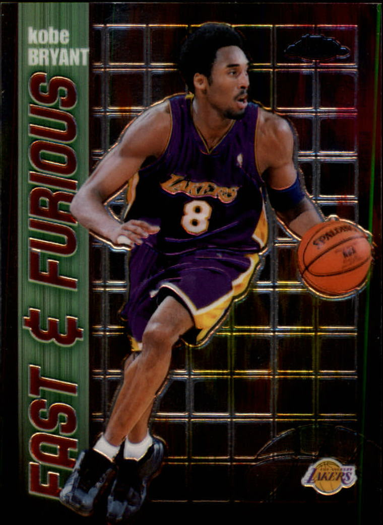 2001-02 Topps Chrome Fast and Furious #FF6 Kobe Bryant