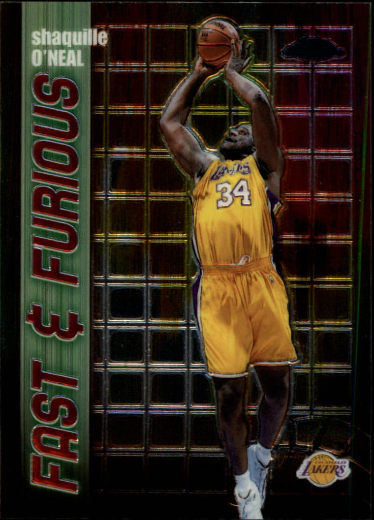 2001-02 Topps Chrome Fast and Furious #FF8 Shaquille O'Neal