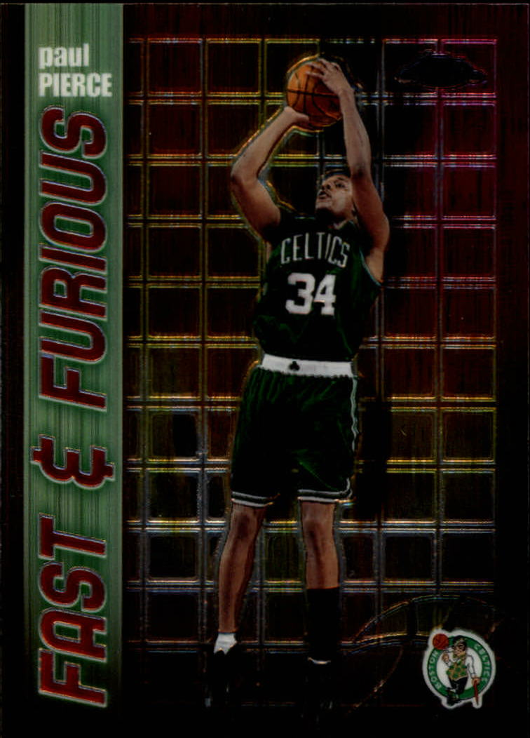 2001-02 Topps Chrome Fast and Furious #FF10 Paul Pierce