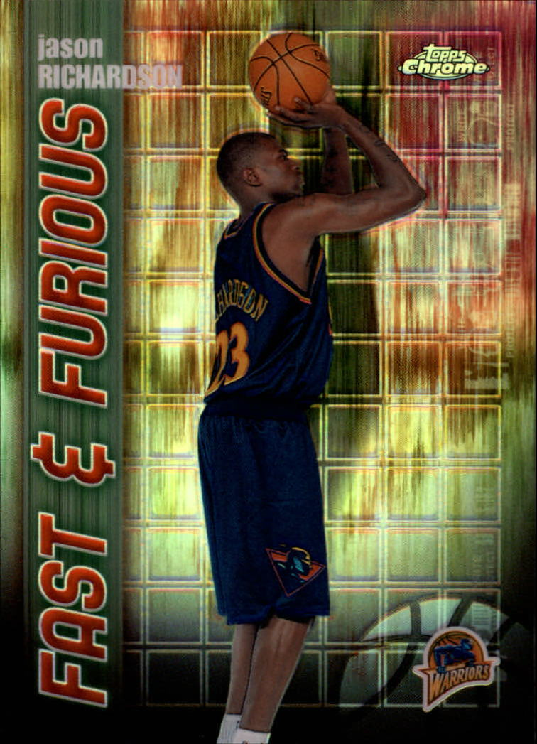 2001-02 Topps Chrome Fast and Furious Refractors #FF14 Jason Richardson