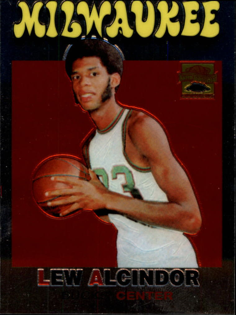 2001-02 Topps Chrome Kareem Abdul-Jabbar Reprints #3 Lew Alcindor
