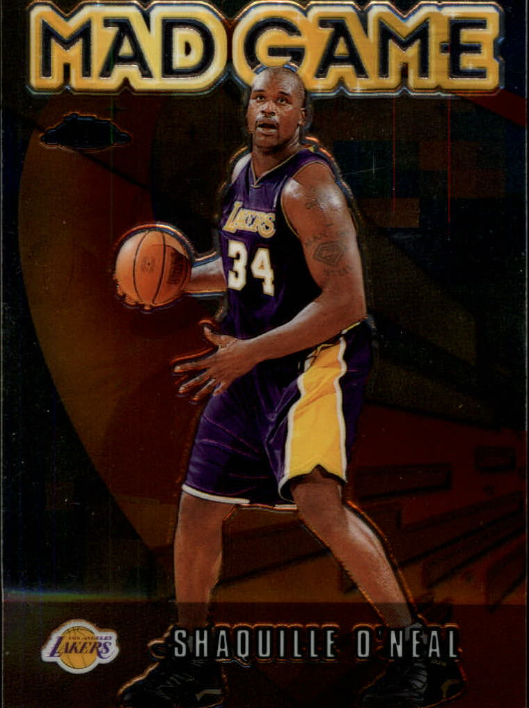 2001-02 Topps Chrome Mad Game #MG2 Shaquille O'Neal